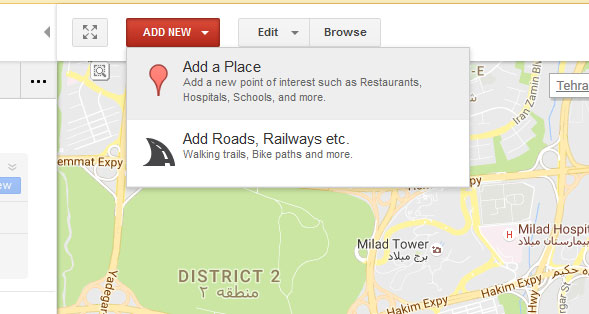 آموزش ثبت آدرس مهد کودک در نقشه گوگل