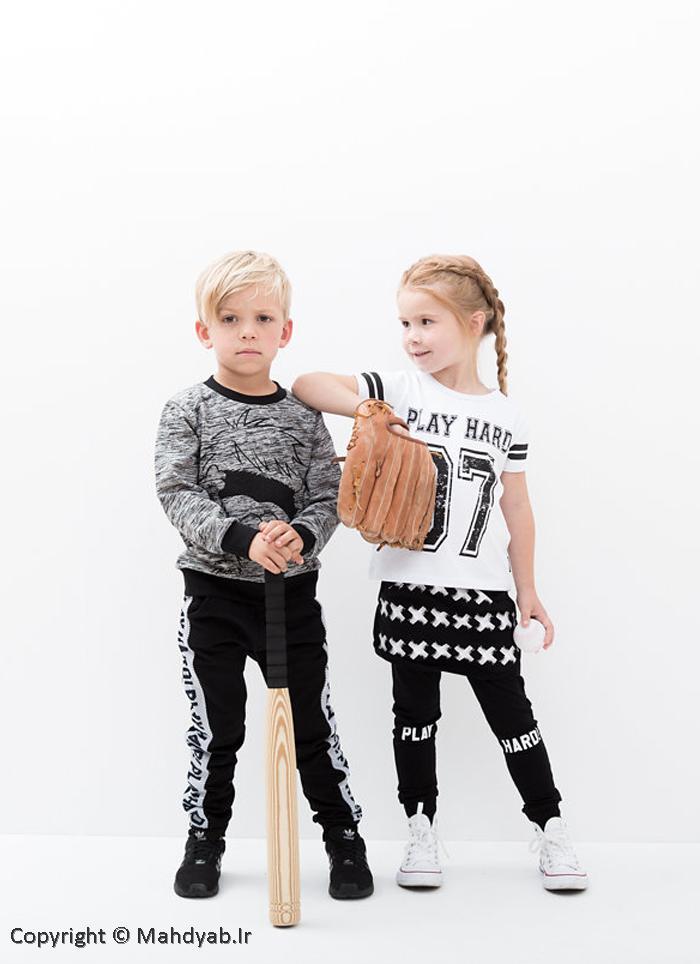 لباس سیاه و سفید کودک