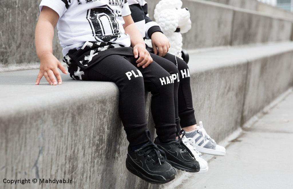 مجموعه تصاویر مدل لباس کودک (مدل های سیاه و سفید)