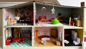 خانه عروسکی دست ساز برای بچه ها